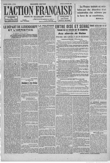 Action francaise article de maurras