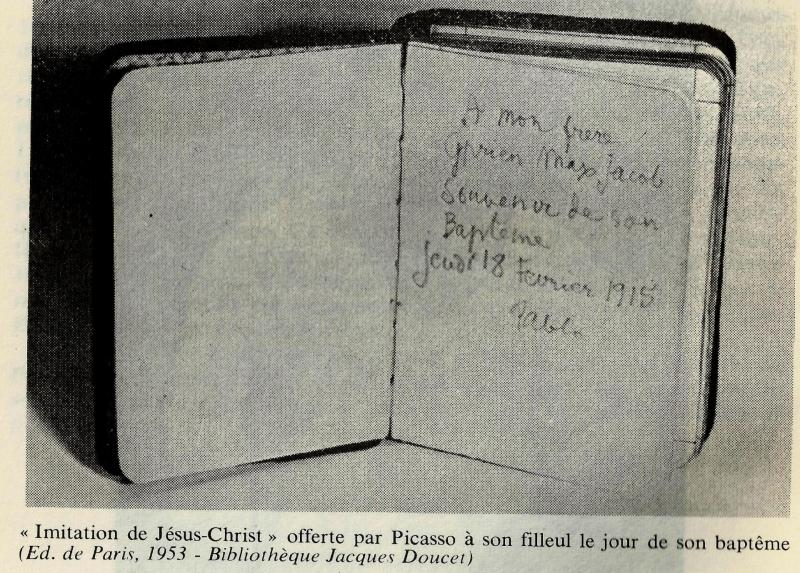 L'imitation du Christ offert par Picasso