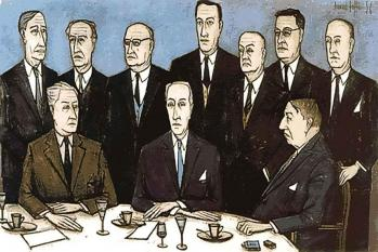 Jury goncourt par bernard buffet 1955
