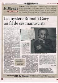 Article du Monde Le mystère Gary
